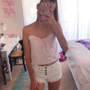 Rare Strapless Brandy Melville Light Pink Tank